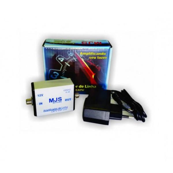 Amplificador de linha MJS 30 db com fonte externa