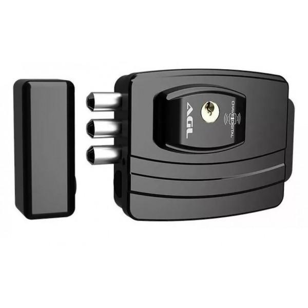 Fechadura AGL 12 Volts ultra card ( 42mm 3 pinos ) Preta