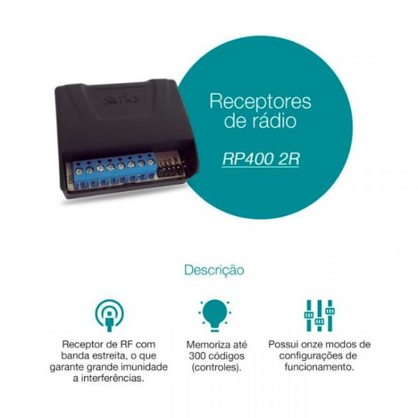 Receptor 2 canais FKS RP-400 ( com pulso ou retenção )